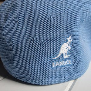 Men's kangol box blue 504 hat small